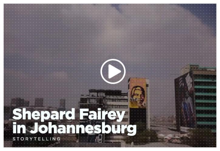 Shepard Fairey in Johannesburg