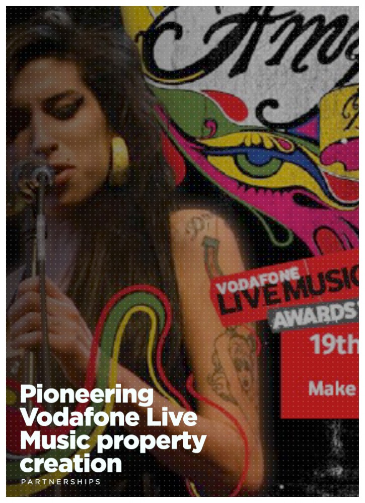 Pioneering Vodafone Live Music property creation