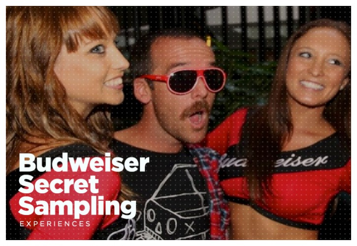 Budweiser Secret Sampling
