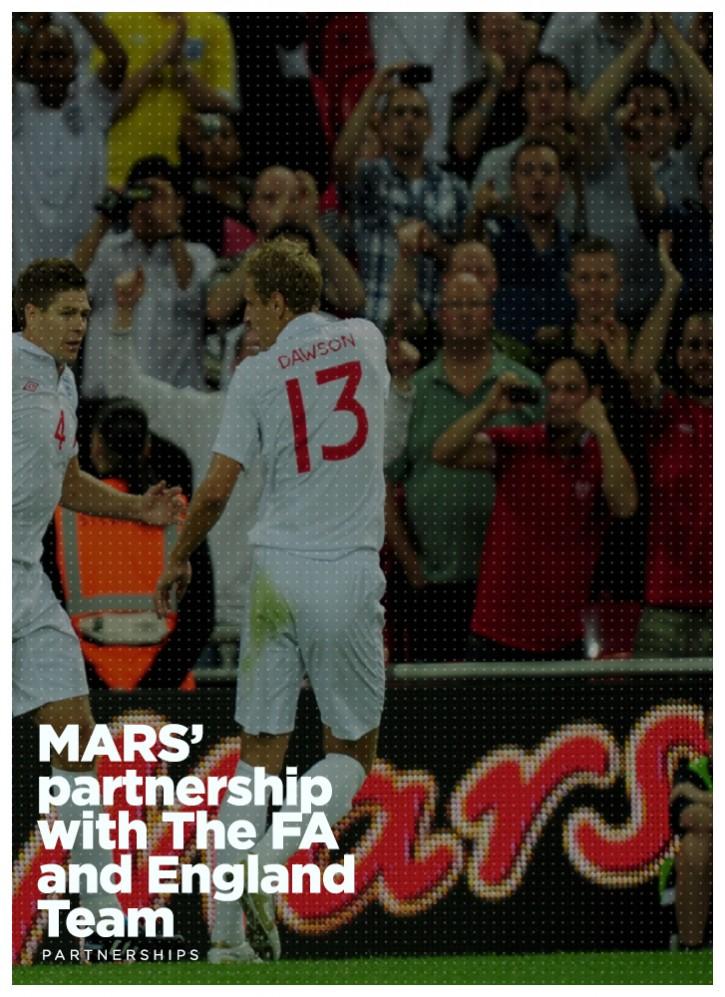 MARS' partnership with The FA and England Team